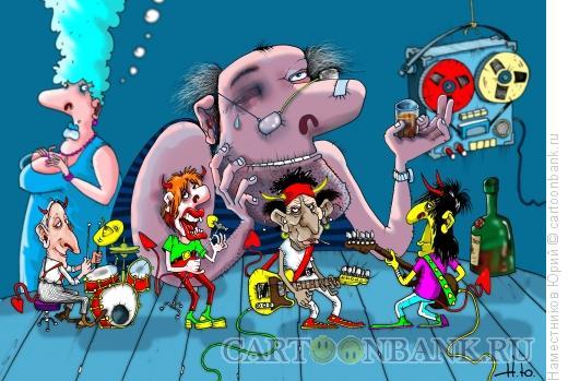 Карикатура: Nostalgia rock`n`roll, Наместников Юрий