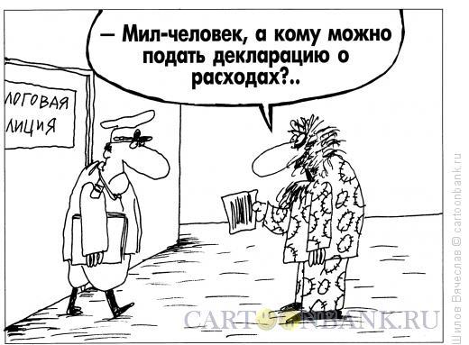 Карикатура: Декларация о расходах, Шилов Вячеслав