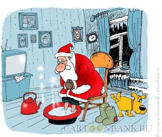 Карикатура: Мороз, Воронцов Николай