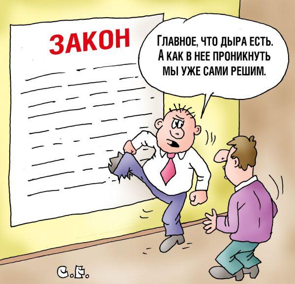Карикатура: Дыра в законе, Сергей Ермилов