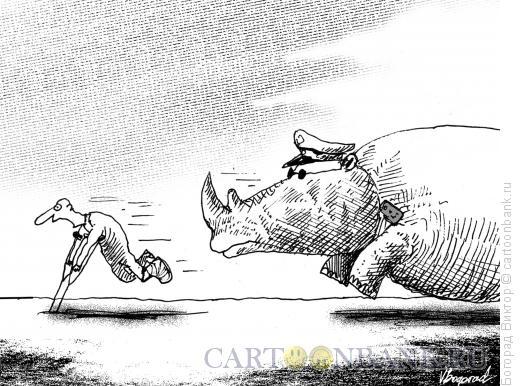 Карикатура: Вcтреча с милицией, Богорад Виктор