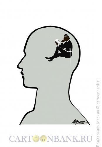 Карикатура: Мозг, Бондаренко Марина