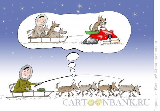 Карикатура: Мечтатель, Тарасенко Валерий