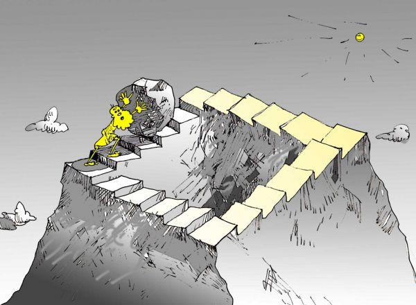 Карикатура: Сизифов труд, Юрий Санников