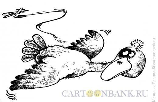 Карикатура: Сумасшедший самолет, Мельник Леонид