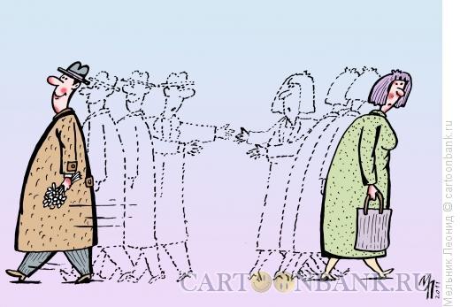 Карикатура: Мимо, Мельник Леонид