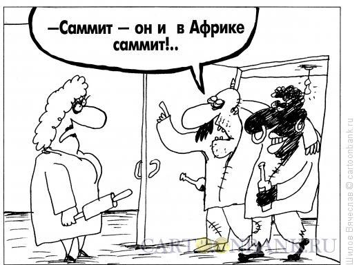 Карикатура: Саммит, Шилов Вячеслав