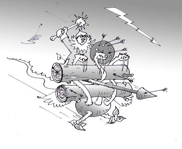 Карикатура: Прототип бронетранспортера, Юрий Санников