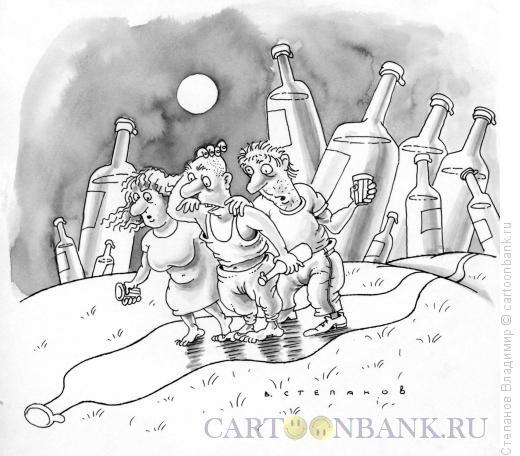 Карикатура: Теплая компания, Степанов Владимир