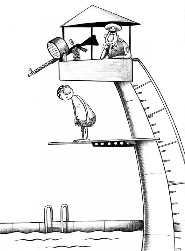 Карикатура: Вышка, Сергей Корсун