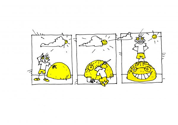 Карикатура: Автопортрет, Юрий Санников