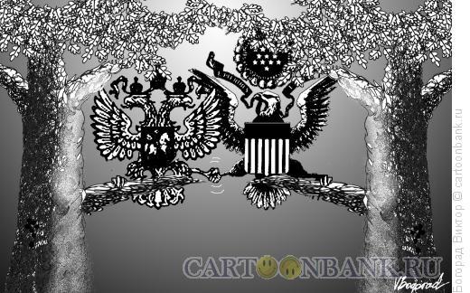 Карикатура: Два орла, Богорад Виктор