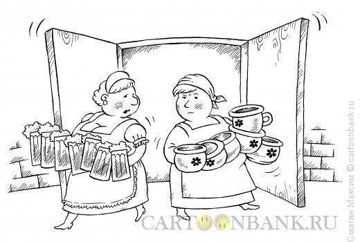 Карикатура: Пиво и горшки, Смагин Максим