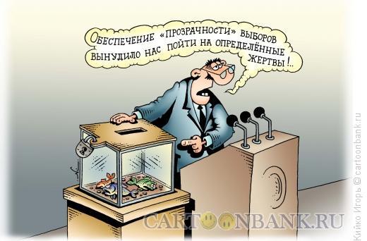 Карикатура: Прозрачные выборы, Кийко Игорь