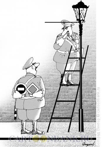 Карикатура: В какой руке?, Богорад Виктор