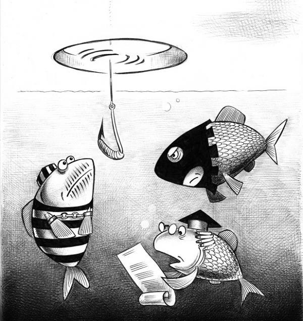 Карикатура: Суд, Сергей Корсун