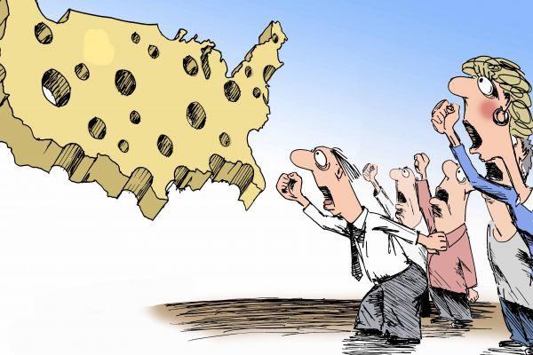 Карикатура: Паства верующих в сытую жизнь!, osipovva