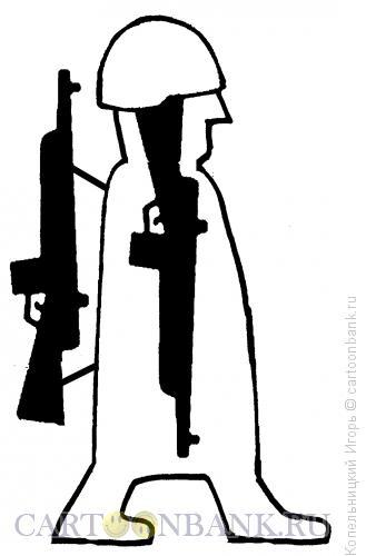 Карикатура: Оружие внутри солдата, Копельницкий �горь