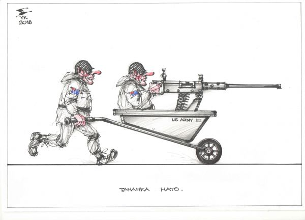 Карикатура: Тачанка NATO ., Юрий Косарев
