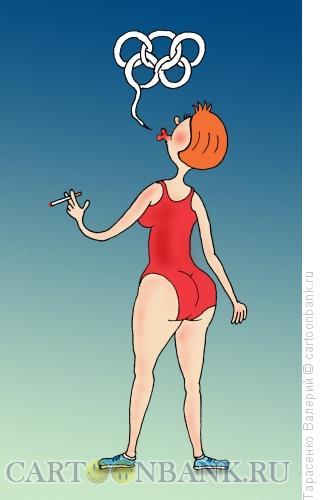 Карикатура: Олимпийский рекорд, Тарасенко Валерий