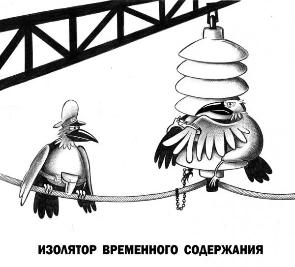 Карикатура: Изолятор временного содержания, Сергей Корсун