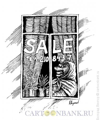 Карикатура: Продавец квартиры, Богорад Виктор