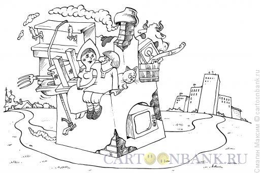 Карикатура: Переезд, Смагин Максим