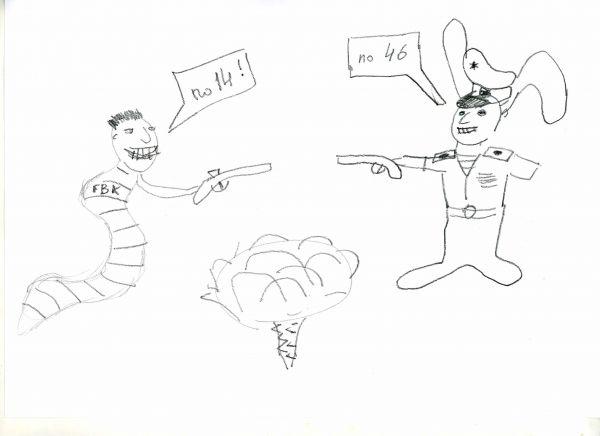 Карикатура: дуэль любителей капусты