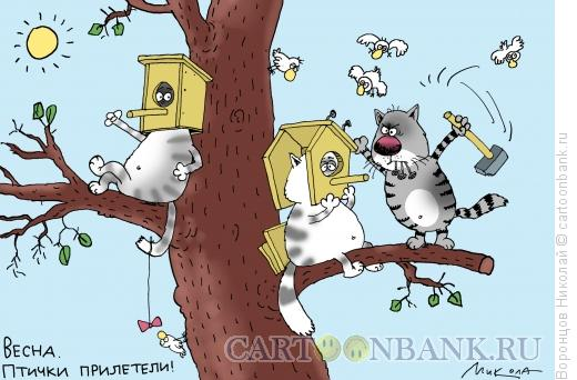 Карикатура: Весна пришла, Воронцов Николай