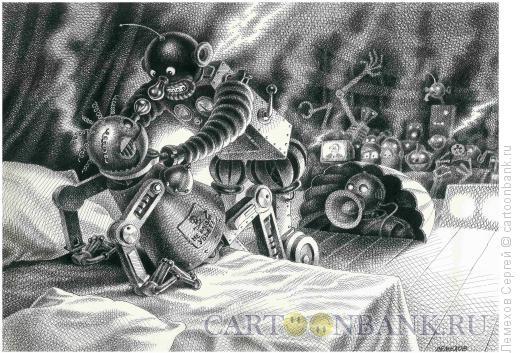 Карикатура: Отелло и Дездемона, Лемехов Сергей