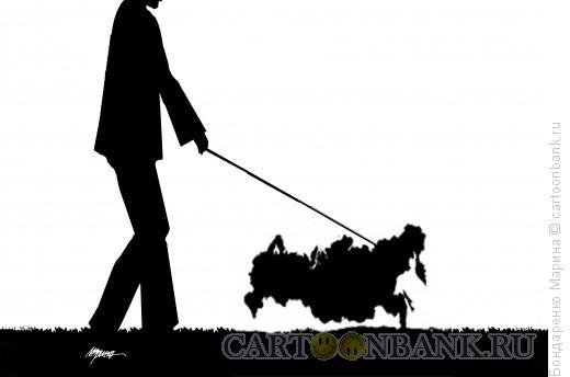 Карикатура: Прогулка с Картой, Бондаренко Марина