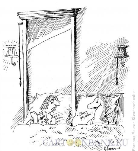 Карикатура: Выключатель, Богорад Виктор