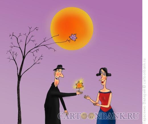 Карикатура: Солнечный лист, Тарасенко Валерий