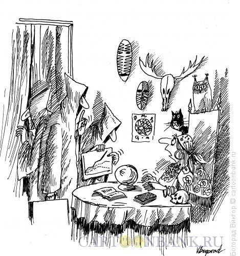 Карикатура: Экономисты у гадалки, Богорад Виктор