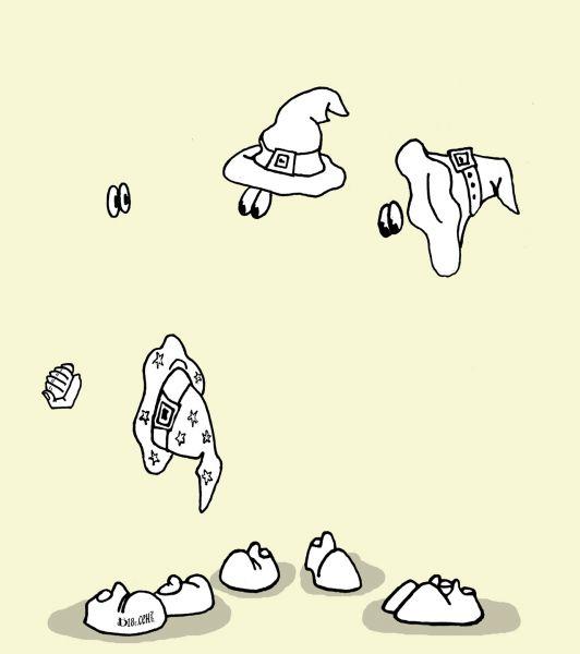 Карикатура: Про шапки-невидимки.