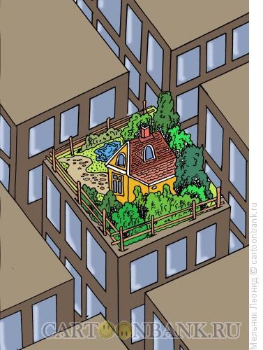 Карикатура: Пентхауз, Мельник Леонид