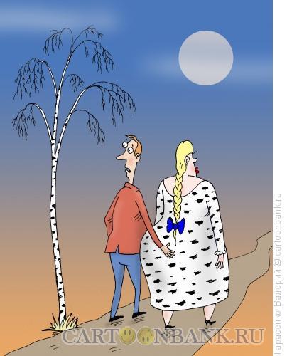 Карикатура: Во поле берёзка, Тарасенко Валерий