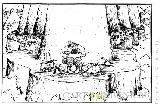 Карикатура: Шашлыки, Шилов Вячеслав