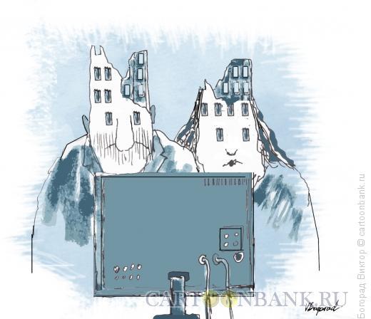 Карикатура: Жетвы телевидения, Богорад Виктор