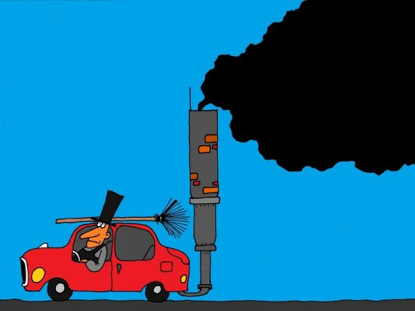 Карикатура: дымоход, михаил ларичев