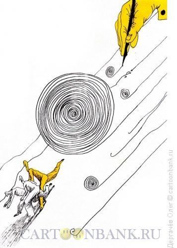 Карикатура: Снежный ком, Дергачёв Олег