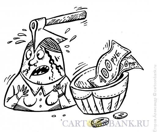 Карикатура: Матрёшка-прочентщица, Егоров Александр