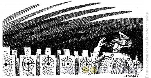 Карикатура: Строевой смотр, Валиахметов Марат