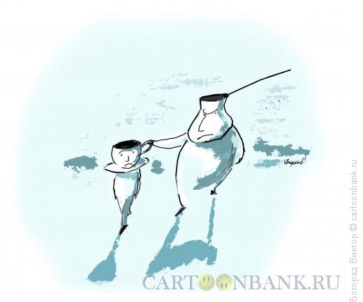 Карикатура: Отец и сын, Богорад Виктор