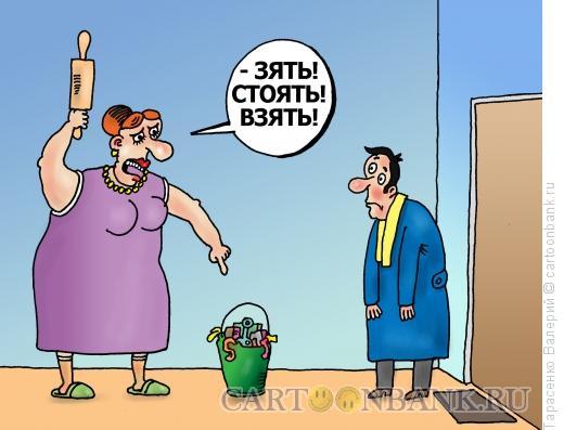 Карикатура: Злая теща, Тарасенко Валерий