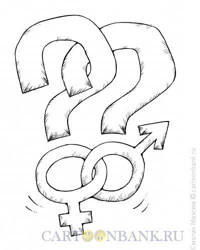Карикатура: Половой вопрос, Смагин Максим
