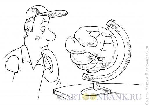 Карикатура: Глобальная фига, Смагин Максим