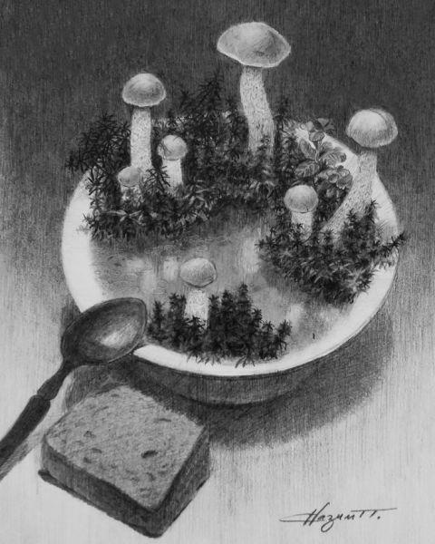 Карикатура: Грибной суп, nazim_p