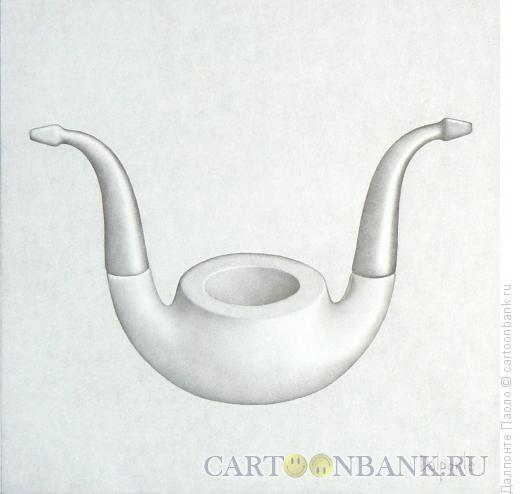 Карикатура: трубка для двоих, Далпонте Паоло