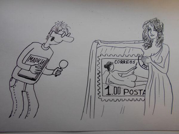 Карикатура: Женщина с покрывалом 7, Петров Александр